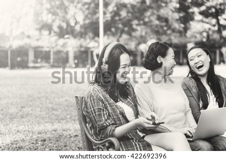 Family Casual Daughter Mother Enjoyment Relax Concept - stock photo
