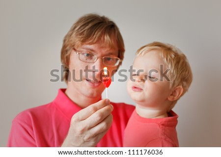 family celebration - stock photo