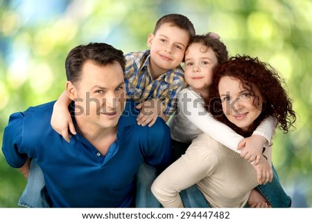 Family, Cheerful, Child. - stock photo
