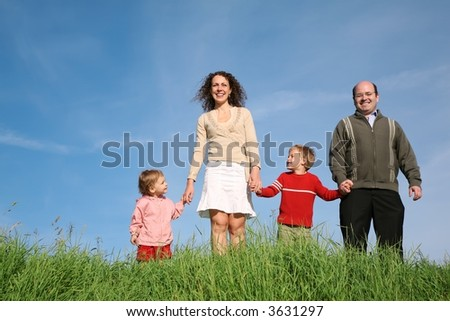 family child grass