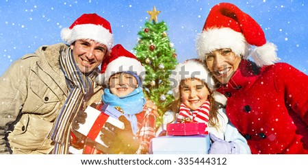 Family Christmas Celebration Vacation Happiness Concept