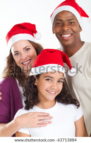 family christmas portrait - stock photo