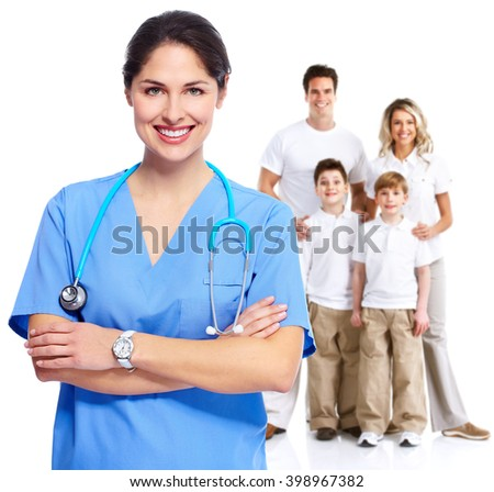 Family doctor woman. - stock photo