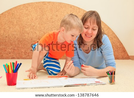 family drawing, early education concept