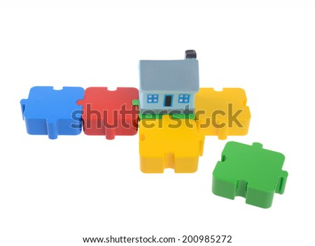 Family economy puzzle - stock photo