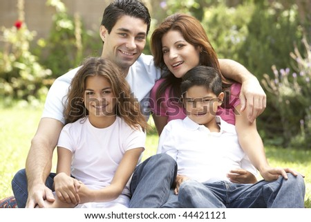 Family Enjoying Day In Park
