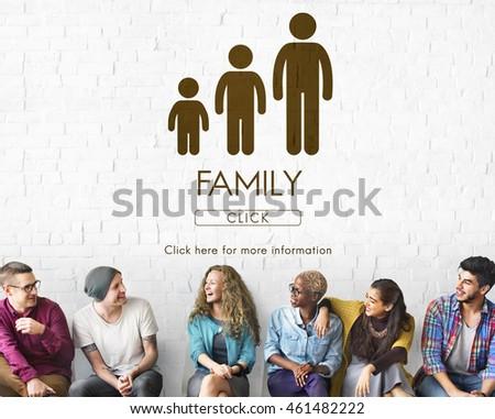 stock photo family relationships.
