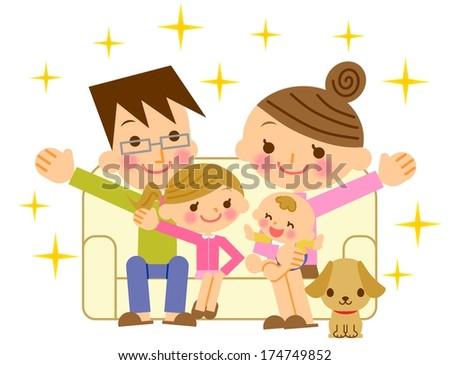 Family happy - stock photo