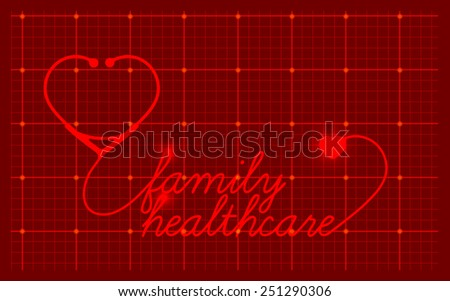 Family healthcare, medical symbol - stock photo