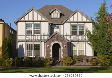 Family home new construction in Wilsonville Oregon. - stock photo