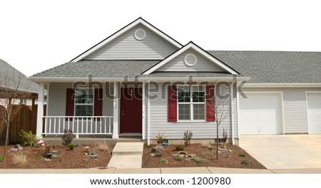 Family House against white - stock photo