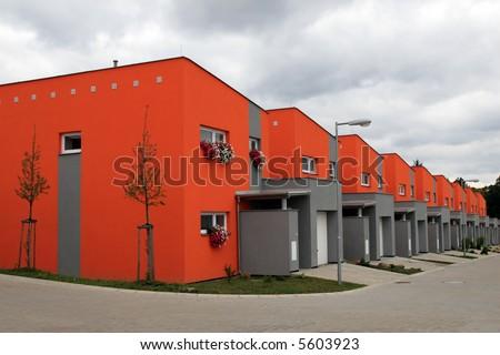 Family houses - stock photo