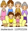 Family illustration - stock photo