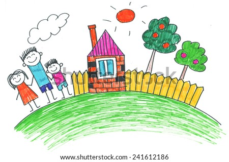 family kids drawing - Images Of Drawing For Kids