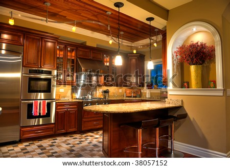 Family Kitchen with Insland