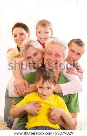 family of six people