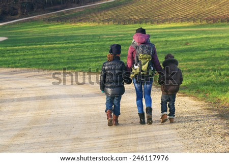 Family on a Nature hike