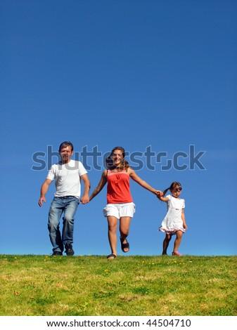 Family outdoor - stock photo