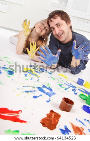 family paint - stock photo