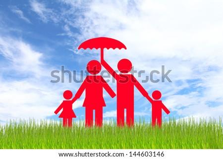 Family paper. - stock photo