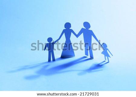 family paper - stock photo