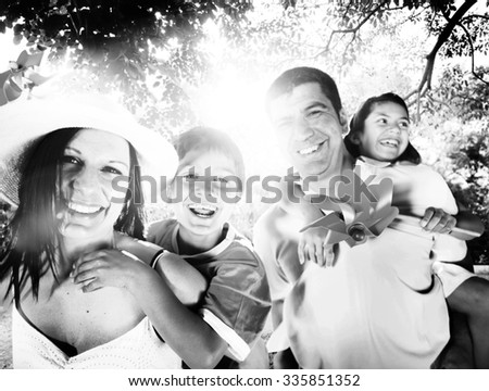 Family Playful Vacation Travel Holiday Concept - stock photo