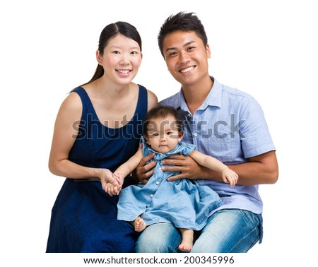 Family portrait with baby girl