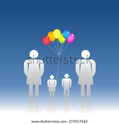 Family same sex - stock photo
