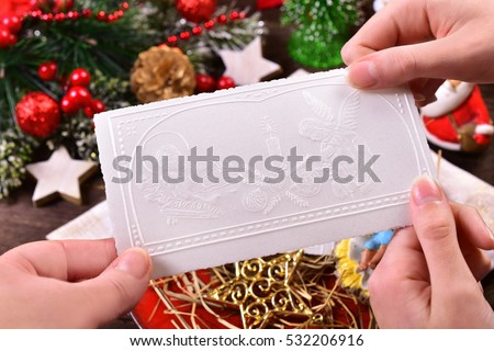 family sharing with traditional christmas eve wafer