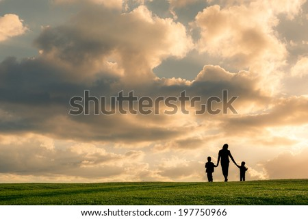 Image result for mother with two boys
