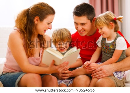 Family spending time together - stock photo
