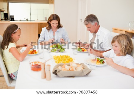 Family started having dinner together