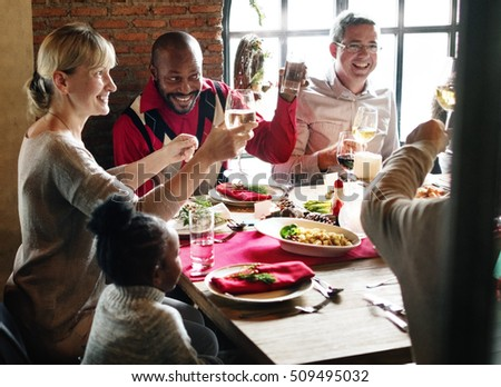 Family Together Christmas Celebration Concept