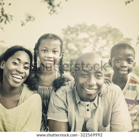 Family Togetherness Unity Parents Son Dougther Concept - stock photo