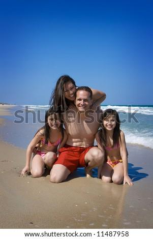 Family vacation - stock photo