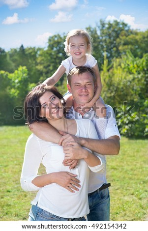 family with child in the park