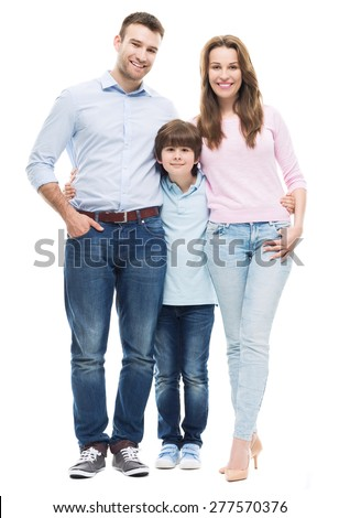 Family with son  - stock photo