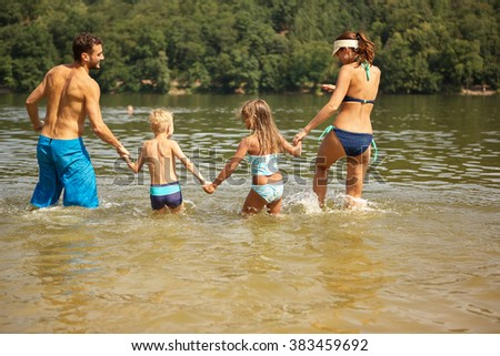 Kids Swimming In A Lake lake swimming stock images, royalty-free images & vectors
