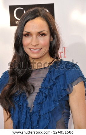 Famke Janssen at the 18th Annual Critics' Choice Movie Awards at Barker Hanger, Santa Monica Airport. January 10, 2013  Santa Monica, CA Picture: Paul Smith - stock photo