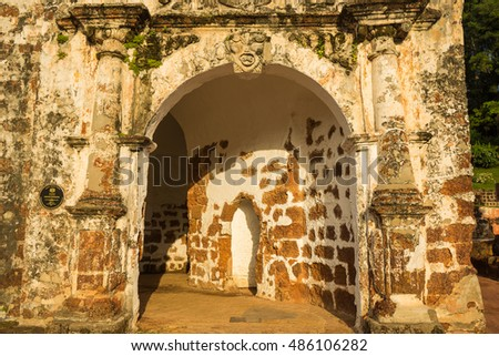 Famosa is a Portuguese fortress located in Malacca, Malaysia. It is among the oldest surviving European architectural remains in south east Asia