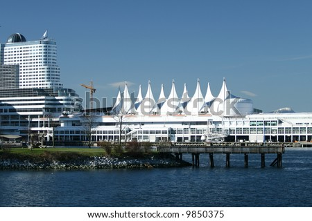 Famous Canada Place in Vancouver - stock photo