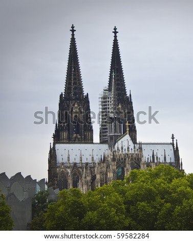 Famous Cathedral in Cologne, Germany