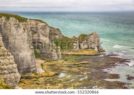 Famous cliffs of Etretat - Normandy (France)