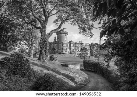 famous dromoland castle hotel, county clare, ireland - stock photo