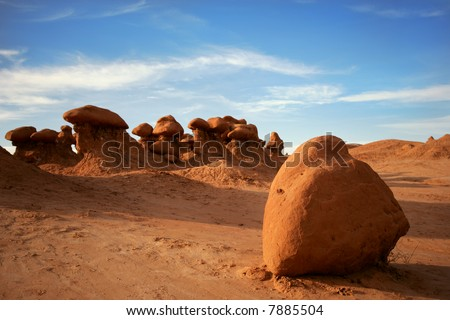Famous Goblins State Park, Utah - stock photo