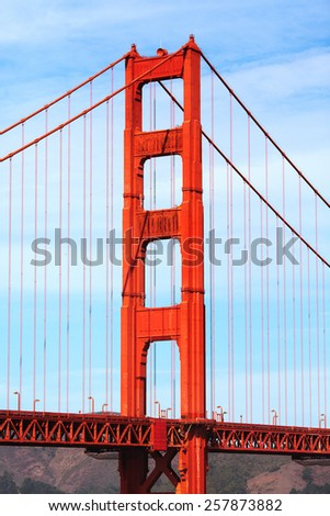 Famous Golden Gate Bridge in San Francisco, USA. - stock photo