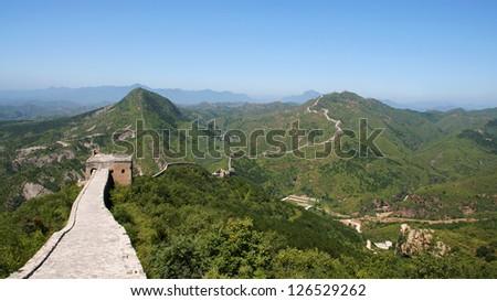 Famous great wall at Simatai near Beijing, China - stock photo