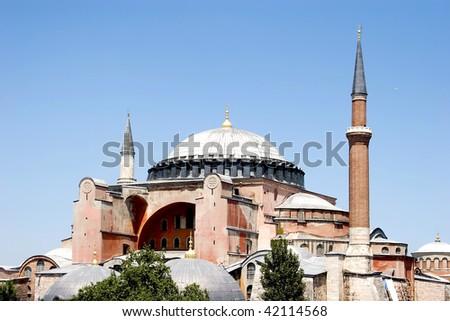 Famous Hagia Sophia Mosque in Istanbul - stock photo