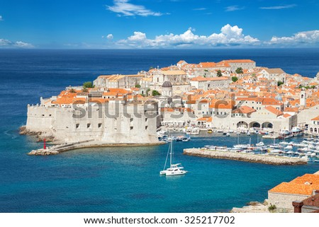 Famous historical town of Dubrovnik in Croatia