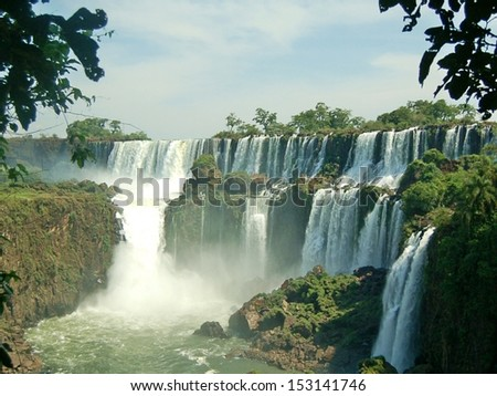 Famous Iguazu waterfalls Argentina Brazil - stock photo